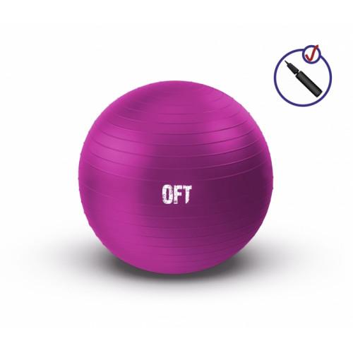 Мяч гимнастический 55 см FitTools Фуксия