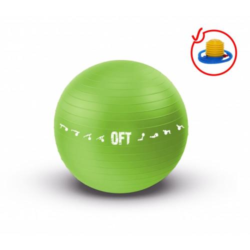 Мяч гимнастический для залов FitTools 65см зеленый