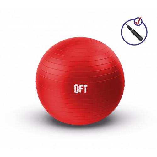 Мяч гимнастический 65 см FitTools Красный