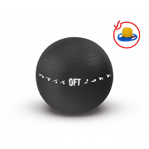 Мяч гимнастический для залов FitTools 75см черный