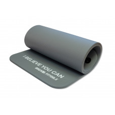 Мат для аэробики NBR 12.5 мм OFT серый с кольцами