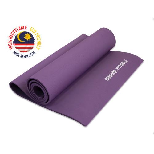 Коврик для йоги однослойный TPE 6 мм, Фиолетовый, OFT