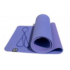 Коврик для йоги двухслойный TPE 6 мм OFT Фиолетово-Сиреневый