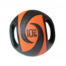 Мяч тренировочный (медицинбол) с хватами FitTools, 10 кг