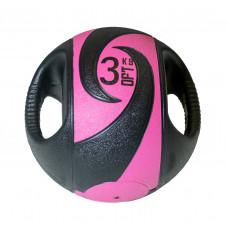 Мяч тренировочный (медицинбол) с хватами FitTools, 3 кг