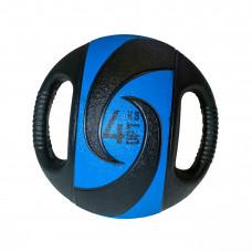 Мяч тренировочный (медицинбол) с хватами FitTools, 4 кг