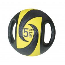 Мяч тренировочный (медицинбол) с хватами FitTools, 5 кг