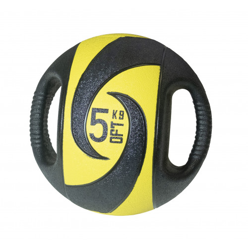 Мяч тренировочный (медицинбол) с хватами 5 кг