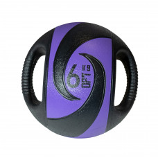 Мяч тренировочный (медицинбол) с хватами FitTools, 6 кг