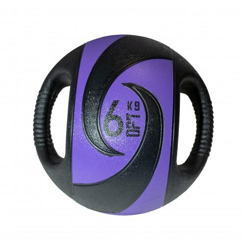 Мяч тренировочный (медицинбол) с хватами 6 кг