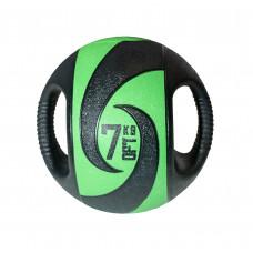 Мяч тренировочный (медицинбол) с хватами FitTools, 7 кг