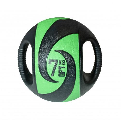 Мяч тренировочный (медицинбол) с хватами 7 кг