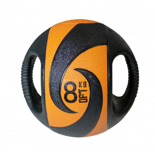 Мяч тренировочный (медицинбол) с хватами 8 кг