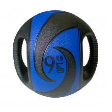 Мяч тренировочный (медицинбол) с хватами FitTools, 9 кг