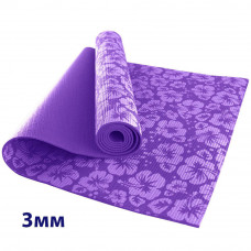 Коврик для йоги с рисунком 3 мм