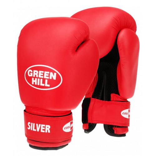 Перчатки боксерские Silver 12oz Green Hill