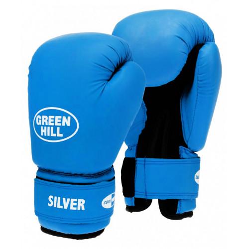 Перчатки боксерские Silver 14oz Green Hill