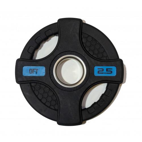 Диск олимпийский обрезиненный с двумя хватами 2,5 кг Original FitTools