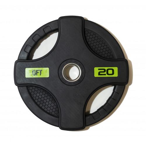 Диск олимпийский обрезиненный с двумя хватами 20 кг Original FitTools