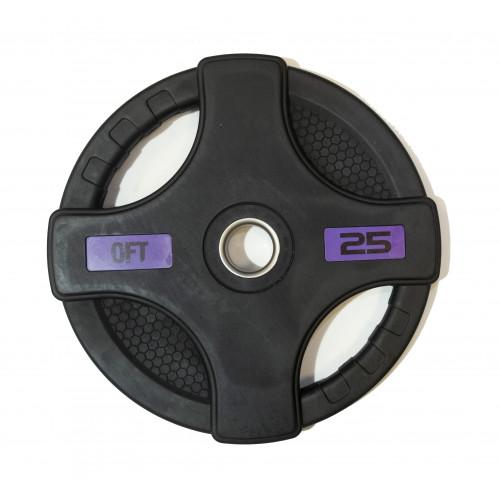Диск олимпийский обрезиненный с двумя хватами 25 кг Original FitTools