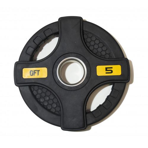 Диск олимпийский обрезиненный с двумя хватами 5 кг Original FitTools