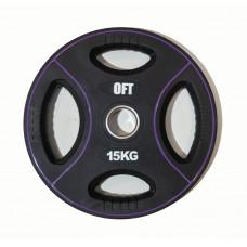 Диск для штанги олимпийский полиуретановый 15 кг Original FitTools