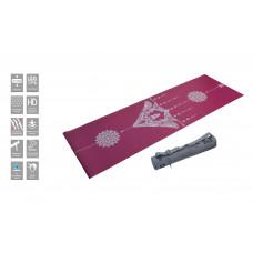 Коврик для йоги супертонкий 2.5 мм в сумке с ремешком, OFT