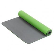 Коврик для фитнеса и йоги Larsen TPE двухцветный Зеленый-Серый