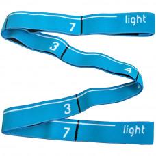 Эспандер эластичная лента с петлями Light 92х3 см