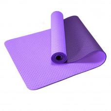 Коврик для фитнеса двухслойный перфорированный, TPE 6мм