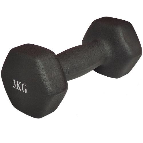 Гантель неопреновая 3 кг, черная