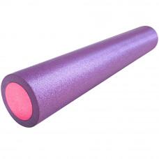 Ролик для йоги полнотелый 2-х цветный, 90см