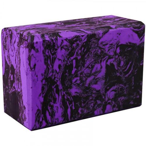 Йога блок - Фиолетовый гранит