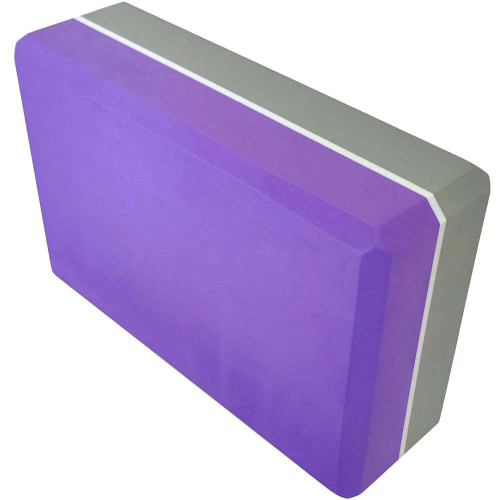 Йога блок 2-х цветный - Фиолетовый-Серый