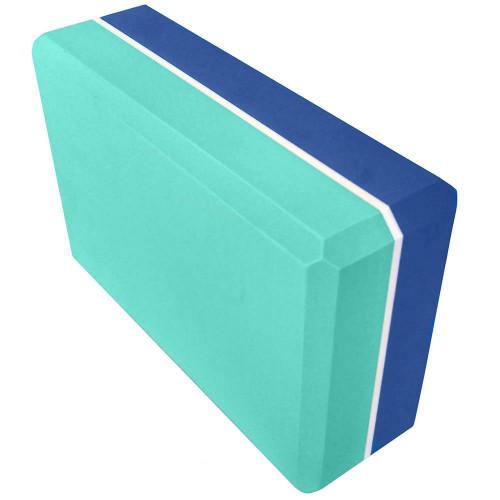 Йога блок 2-х цветный - Синий-Бирюзовый