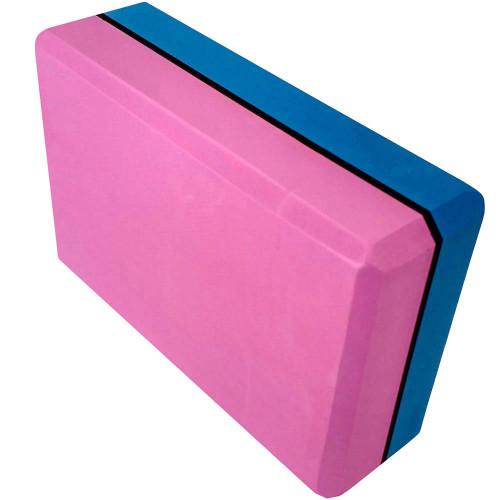 Йога блок 2-х цветный - Синий-Розовый