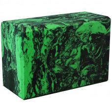 Йога блок - Зеленый гранит