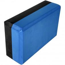Йога блок 2-х цветный - Синий-Черный