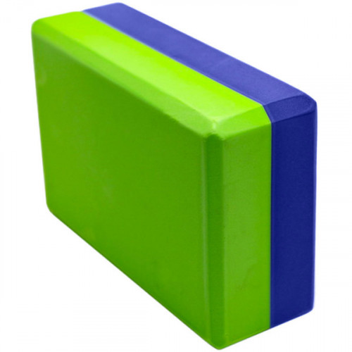 Йога блок 2-х цветный - Синий-Зеленый
