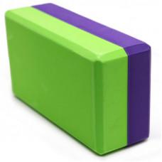 Йога блок 2-х цветный - Фиолетовый-Зеленый
