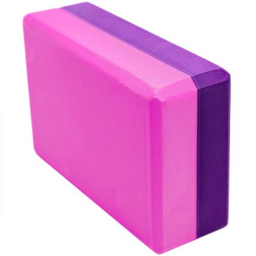 Йога блок 2-х цветный - Фиолетовый-Розовый