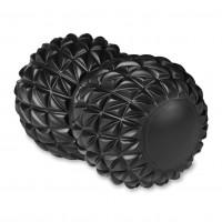 Мячик массажный двойной 18х10 см, INDIGO