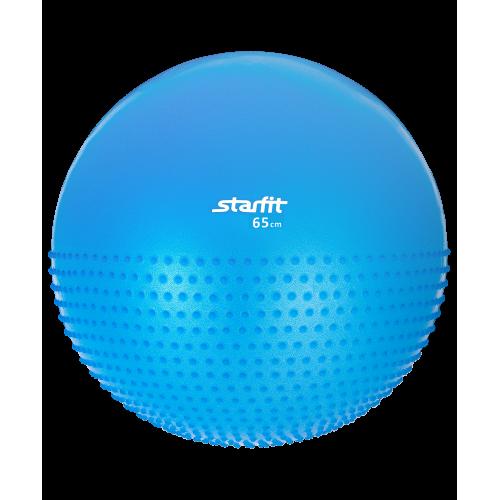 Мяч гимнастический полумассажный GB-201 StarFit, 65 см