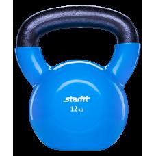 Гиря виниловая StarFit 12кг, синяя