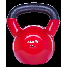 Гиря виниловая StarFit 16кг, красная