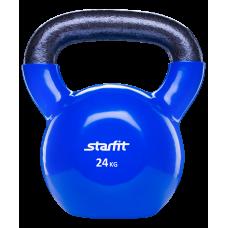 Гиря виниловая StarFit 24кг, темно-синяя