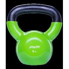 Гиря виниловая StarFit 8кг, зеленая
