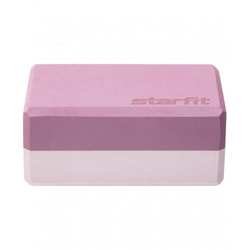 Блок для йоги YB-201, StarFit, 22,8х15,2х10 см, Пыльная Роза